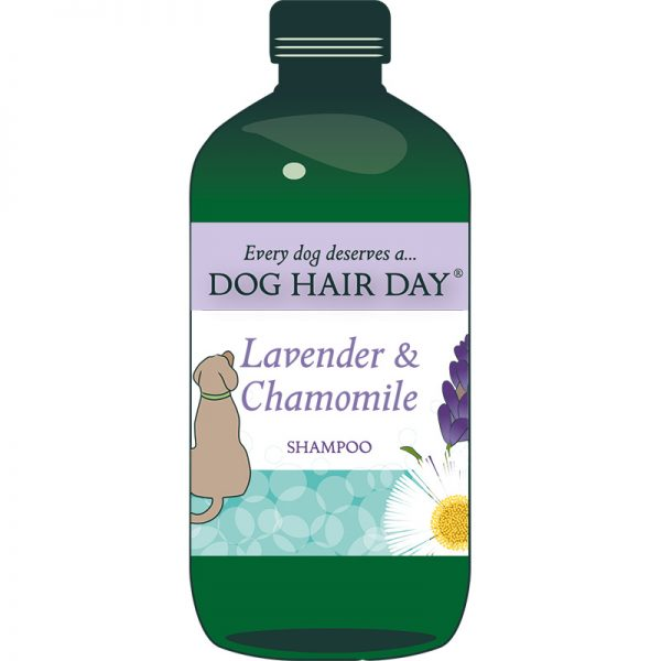 Drawing of bottle of Dog Hair Day Tea Tree & Sage shampoo